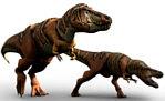 tyranozaury na polowaniu